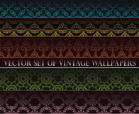 Vintage wallpapers Stock Images