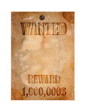 Vintage wanted poster stock image