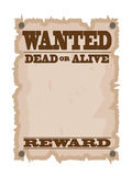 Vintage wanted poster Stock Images