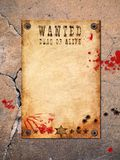 Vintage wanted poster stock illustration