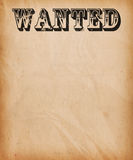 Vintage Wanted Poster Background Royalty Free Stock Photography