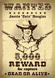 Vintage Wanted Poster royalty free illustration