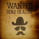 Vintage Wanted poster. Grunge illustration Stock Photos