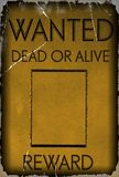Vintage wanted poster template stock photos