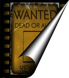 Vintage wanted poster template. On film strip background stock images
