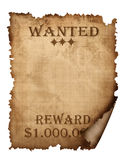 A vintage wanted sign Royalty Free Stock Photo