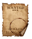 A vintage wanted sign Royalty Free Stock Photos