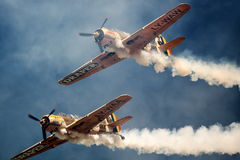 Vintage war aircrafts Royalty Free Stock Image