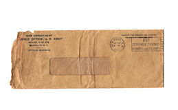 Vintage War Dept Envelope Stock Photo