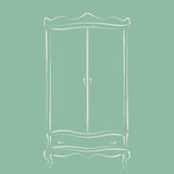 Vintage wardrobe. Royalty Free Stock Photos