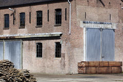 Vintage warehouse exterior Royalty Free Stock Image