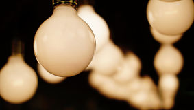 Vintage warm bulbs lamp decorative in home Stock Image