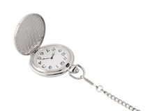 Vintage watch with chain isolated Stock Images