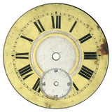 Vintage Watch Dial 2. Vintage pocket watch - dial only - isolated with clipping path royalty free stock photo