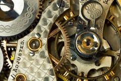Vintage watch gears macro shot Royalty Free Stock Photo