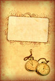 Vintage watch on grungy background Royalty Free Stock Images