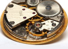 Vintage watch mechanism Royalty Free Stock Photos