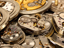 Vintage watch mechanism Royalty Free Stock Photography