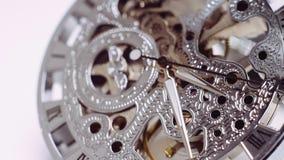 Vintage watch mechanism stock footage