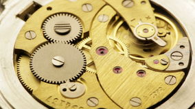 Vintage watch mechanism Stock Photo