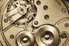 Vintage watch movement close-up Royalty Free Stock Photo