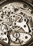 Vintage watch movement close-up Stock Photo