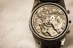 Vintage watch movement Stock Photos