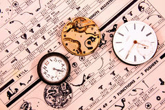 Vintage watch movements Stock Image