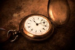 Vintage watch. Old vintage pocket watch.Selective focus in the middle of watch stock photos