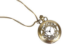 Vintage watch pendant on the white background, isolated Stock Photography