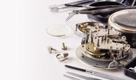 Vintage watch in the process of repair Royalty Free Stock Images