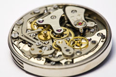 Vintage Watch for repair. Close-up of a Vintage wristwatch watch movement, opened for repair Royalty Free Stock Photos