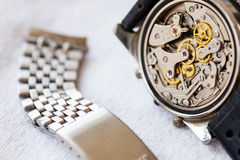 Vintage watch and stainless steel strap Royalty Free Stock Photography