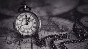 Vintage Watch On World Map royalty free stock images
