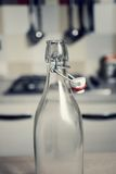 Vintage water bottle with bottle cap.  Royalty Free Stock Image