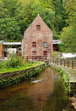 Vintage Water Mill in Rural England Stock Photos