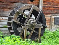 Vintage water mill wheel Royalty Free Stock Images