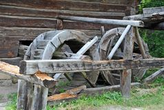 Vintage water mill wheel Stock Photography