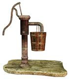 Vintage water pump. 3D render of an old water pump Royalty Free Stock Photography