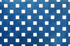 Vintage watercolor dark blue square pattern. Geometrical traditional ornament for fashion textile, cloth, backgrounds Stock Photos