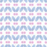 Vintage watercolor flower pattern. Vector vintage watercolor flower pattern Royalty Free Stock Image