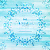 Vintage watercolor frame Royalty Free Stock Images