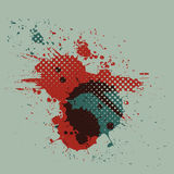 Vintage watercolor splatter design Stock Image