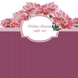 Vintage Watercolor Spring peonies flower card Royalty Free Stock Photos