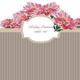 Vintage Watercolor Spring peonies flower card Royalty Free Stock Images