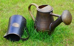 Vintage watering cans Stock Images