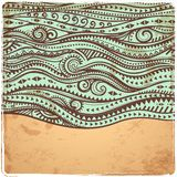 Vintage Waves illustration Stock Images