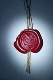 Vintage wax seal with Pigeon Stock Image