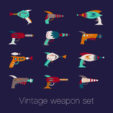 Vintage weapon set Royalty Free Stock Photo
