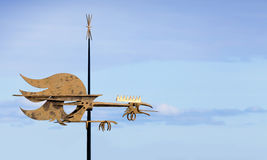 Vintage weather vane cock Stock Photo